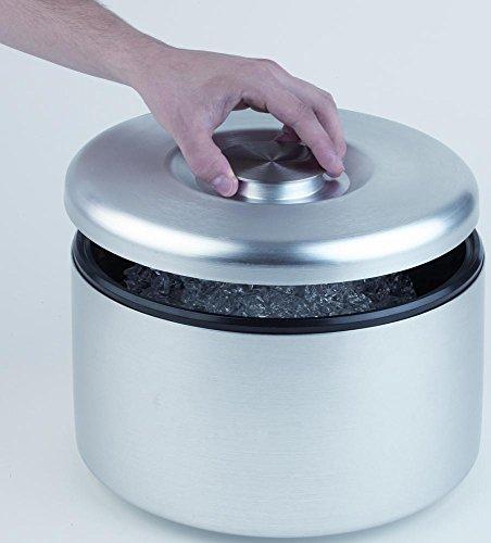 APS 36037 Eisbox Ø 27cm, H: 20cm, 8 Liter aus Aluminium eloxiert Innenbehälter aus PS