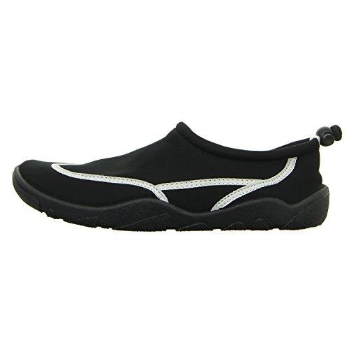 Sneakers DB2013002 Damen Leinen Slipper/Kletthalbschuh Schwarz (Schwarz)