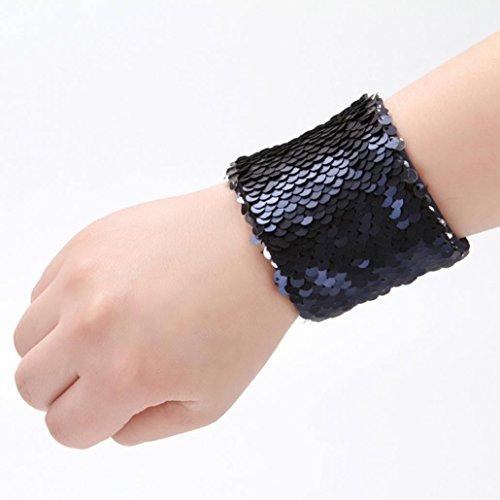 URSING Mode Neueste Brauch Personalisiert Meerjungfrau Paillette Armband Schick Armband Herren Damen stilvoll Bracelet Schmuck Armschmuck Armbänder 23*6.3cm (Die Meerjungfrau Outfits Kleine)