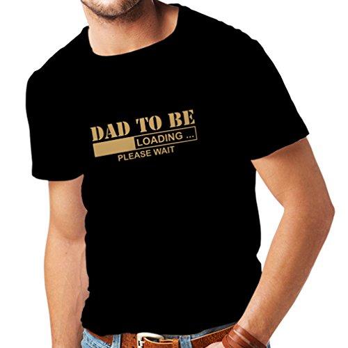 T-shirt pour hommes Papa àêtre - Chargement de nouveaux cadeaux d'amusement de Père t-shirt pour le papa (Large Noir Or)
