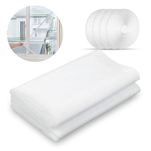 Sundell Insektenschutz für Fenster, 130 x 150 cm Moskitonetz Fliegengitter für Fenster, (2 Fliegengitter Fenster Polyester + 4 Klettband)