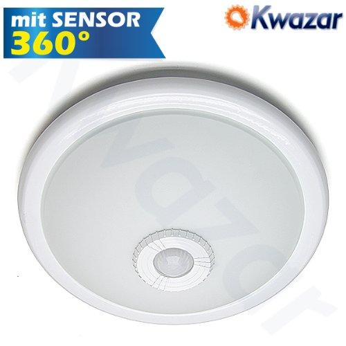 Deckenleuchte Deckenlampe mit Bewegungsmelder KLS2. IP20 2x E27 max 25W. 360° Sensor Sensorleuchte Sensorlampe
