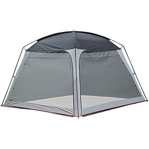 High Peak 14046 - Tenda Pavillon, colore grigio chiaro/grigio scuro/rosso