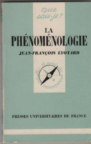 Phénoménologie par Lyotard J.F