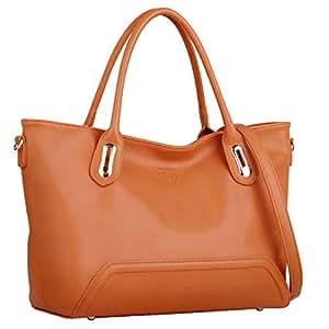 COOFIT Borse Donna da Spalla Grandi Capacità Moda Tote Nera (arancione)