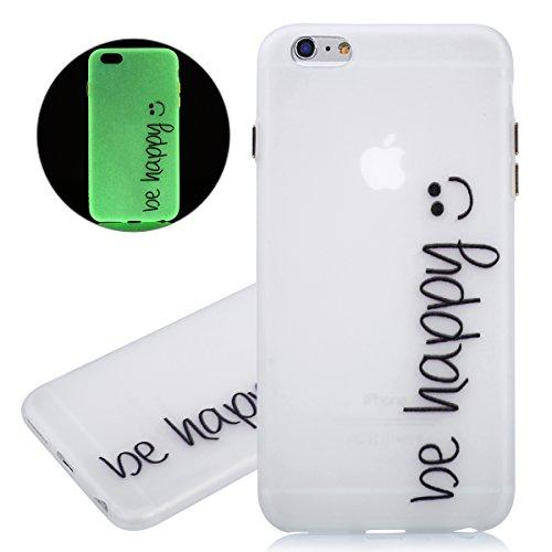 ISAKEN Custodia iPhone 6 Plus - Cover iPhone 6S Plus - Fashion Agganciabile Luminosa Cover Denso Case con LED Lampeggiante per Apple iPhone 6(5.5