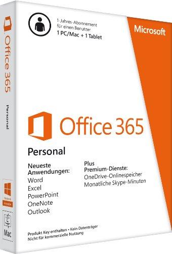 Microsoft Software Microsoft Office 365 Personal - 1 PC/MAC - 1 Jahresabonnement + G Data Internet Security (Jubiläumsversion) - 3 PCs / 1 Jahr