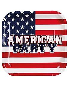 Boland - Platos de cartón para fiesta americana, 6 unidades, multicolor, BOL44955