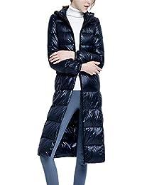 Dotoo Les Femmes Hiver Chaud Ultra Léger Blanc Canard Bas Long Hooded Veste  Manteau 4d67f557cc43