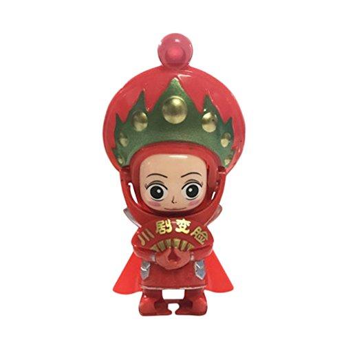 Sungpunet Sichuan Chinesisches Operngesicht China Tradition Kultur wechselnde Puppe Spielzeug Baby Spiel Magic Toys Rot (Kultur-puppen)