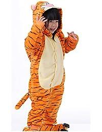 SODIAL(R) unisexe Costume de deguisement Hoodies Pyjamas dorment usage Tigrou Etiquette 115cm