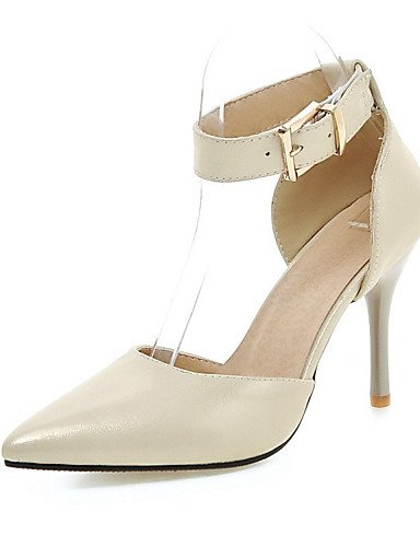 WSS 2016 Chaussures Femme-Bureau & Travail / Habillé / Soirée & Evénement-Noir / Bleu / Rose / Beige-Talon Aiguille-Talons / Bout Pointu-Talons- beige-us8.5 / eu39 / uk6.5 / cn40