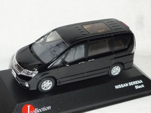 J-Collection Nissan Serena Schwarz Personen Transporter 1/43 Modell Auto Modellauto