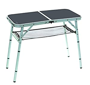 Bo-Camp Mobilier de camping BC Table de côté alu 80x40cm Grey