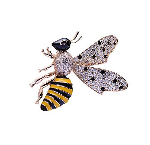 TYun Zirkon Brosche Süße Biene Brosche Kleine Anti-Licht-Schnalle Exquisite Weibliche Accessoires - Licht-vakuum