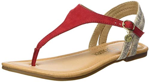 s.Oliver 5-5-28136-22, Infradito Donna, Rosso (Red Comb. 598), 39 EU
