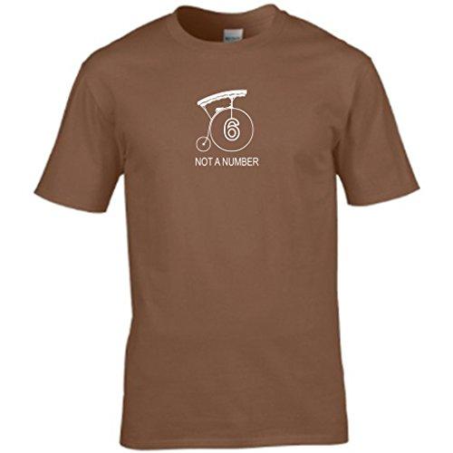Nummer 6-der Gefangene Herren t shirt Braun - Braun