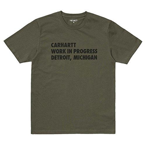 Carhartt Herren S/S Bold Type T-Shirt Grün (CYPRESS/BLACK)