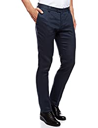 oodji Ultra Uomo Pantaloni Estivi in Lino Slim Fit