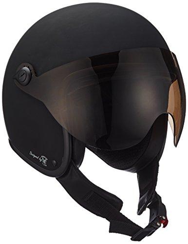 Bores bogo 2jet casco in pelle con visiera designed by gen sler, ce en1077sport pruefung, senza ece, nero opaco, taglia xs = 50cm