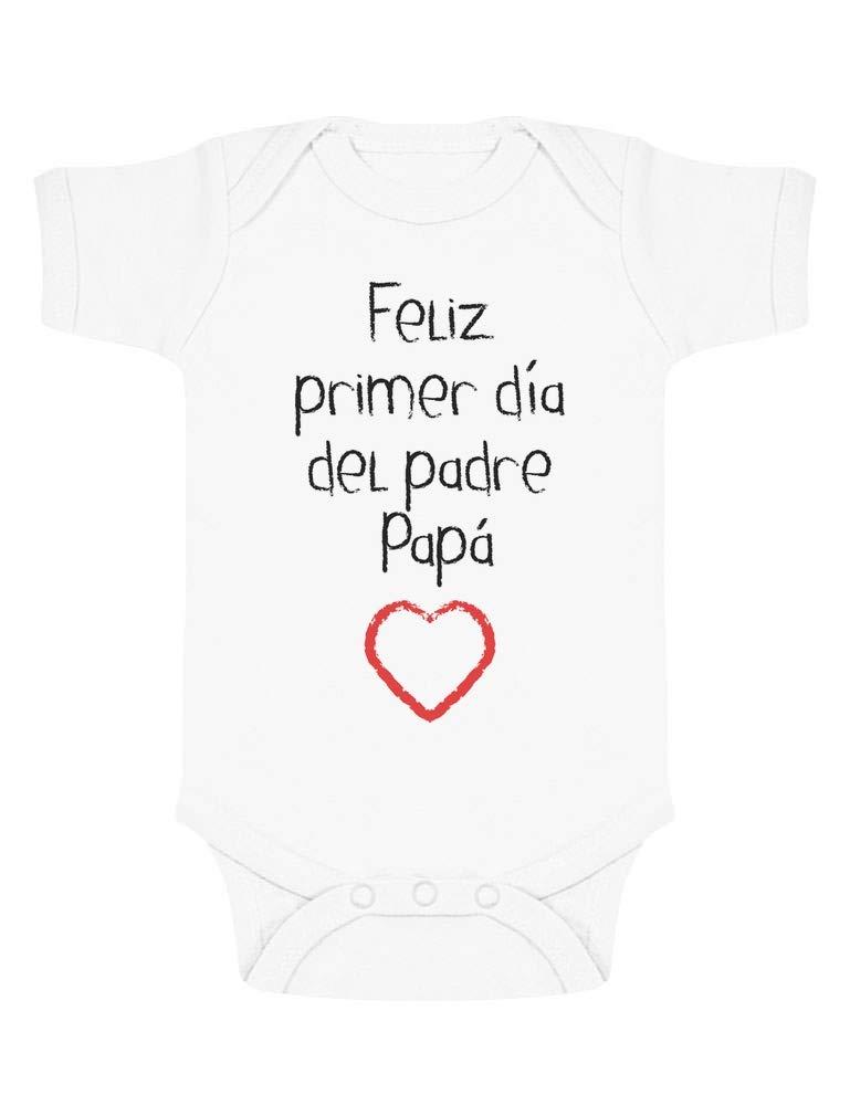 Body de Manga Corta para bebé – Regalo Dia del Padre Bebe – Feliz Primer Día del Padre –