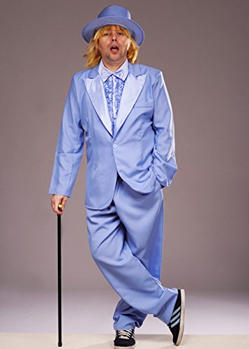 Dumm und dümmer-Stil blau Tuxedo Kostüm Medium (37-40