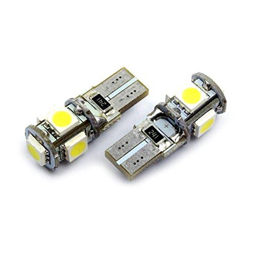 jurmann Trade GmbH® t105SMD LED luci della targa di immatricolazione/illuminazione interni, W5W, canbus, Xenon bianco, Bianco freddo, luce di posizione officina ware