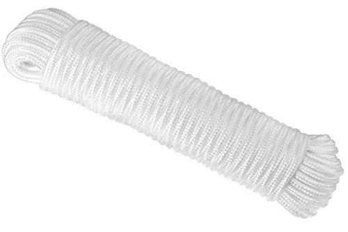 rampro 80ft. Diamant Braid Nylon All Purpose Flagline Seil, Hohe Festigkeit, UV-resistent und hervorragende Stoßdämpfung, Stärke ¼ Zoll | gut für Krawatte, Pull, Swing, Klettern und Knoten