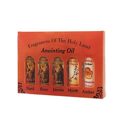 Viel Von 5Mix Salbung Öl-RollOn Flaschen 10. Inhalt 14,2ml. Tolles Geschenk Pack. Duft des Heiligen Bibel Jerusalem