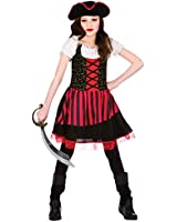 Childrens Pretty Pirate Girl Halloween Fancy Dress Up Party Costume Outfit New