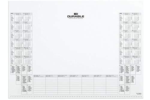 Calendario Per Appunti.Durable 729202 Blocco Appunti Con Calendario 24 Mesi Visualizzazione Delle Festivita Nazionali Di 9 Paesi 25 Fogli 570x410 Mm Bianco