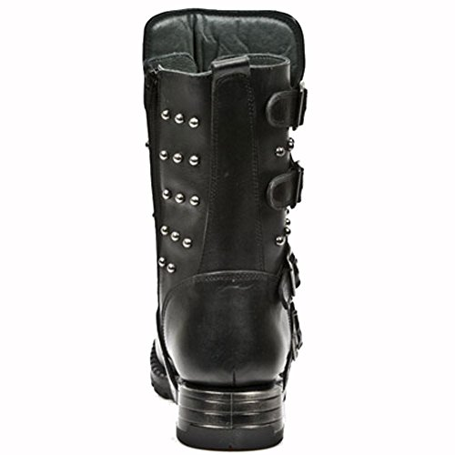 New Rock Motorock Schwarz Stiefel M.MR019-S1 BLACK, BLACK