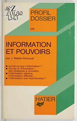 Livre gratuits en ligne Information et Pouvoirs pdf, epub