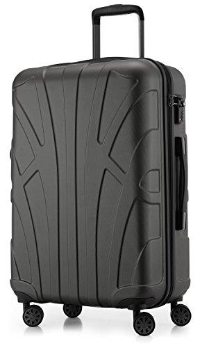 SUITLINE - Hartschalen-Koffer Koffer Trolley Rollkoffer Reisekoffer, TSA, 66 cm, 68 Liter, Graphit
