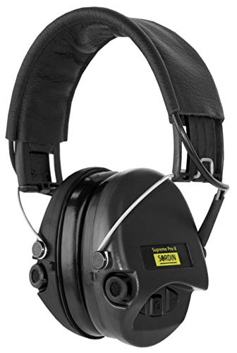 Sordin Supreme PRO X - Aktiver Gehörschutz SOR75302-X/L-02 Elektronischer Gehörschützer Lederband Schwarze Cups