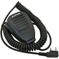 Baofeng UV-5R Speaker - Micrófono para Walkie Talkie Baofeng UV-5R, color negro