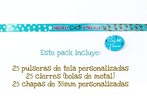 0df2cbed4c26 Pack de 25 Pulseras de Tela + 25 chapas de 38 mm.