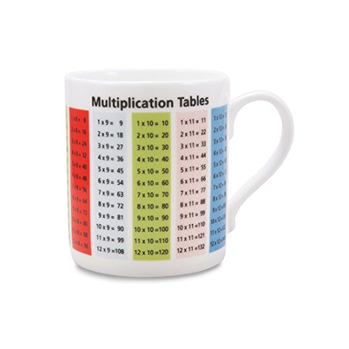 Educational Becher – Einmaleins – Fine Bone China – Standard Größe Kaffee/Tee/Hot Chocolate Mug/Cup – 8,5 cm