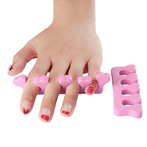 Gfone 2 Stück Soft Toepal Maniküre Separator Toe Finger Nail Art Pediküre Werkzeuge Rosa Zehenspreizer Auftragen Nagellack Suitble für Frauen und Herren zufällige Farben