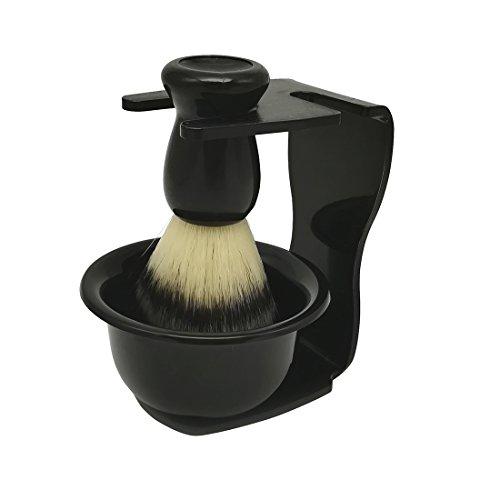 YOMYM Blaireaux Rasage Mauel Kit de rasage pour hommes Shave Brush Stand et Shaving...