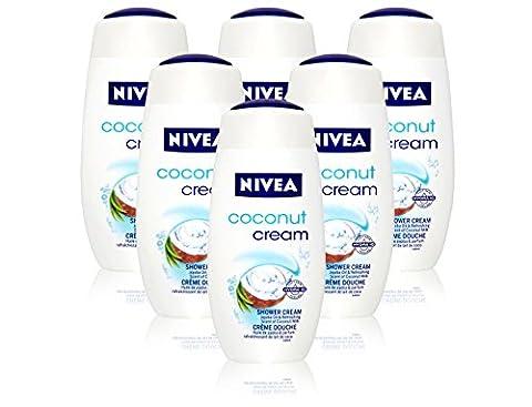 6x Nivea Coconut Shower Cream Body Wash 250ml