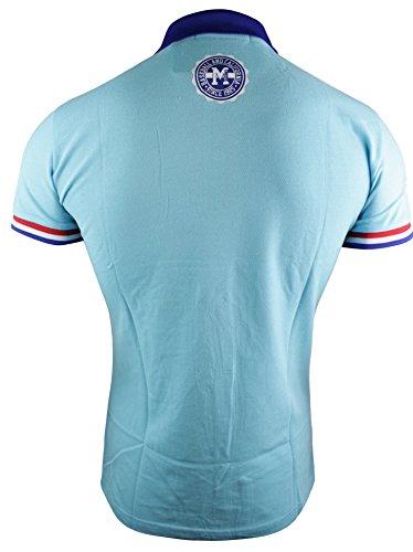 Herren T-Shirt Polo Baumwolle Grün Rot Weiß Blau Lässig Sommer Blau