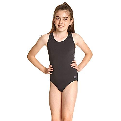 Zoggs Mädchen Badeanzug Badeanzug Cottesloe Sportsback, Schwarz (Black), 160 cm (Herstellergröße: 34)