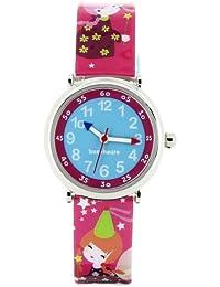 Baby Watch - Coffret Féerique - Montre Fille - Montre Pédagogique 4-7 ans - Cadran Bleu - Bracelet Plastique Multicolore