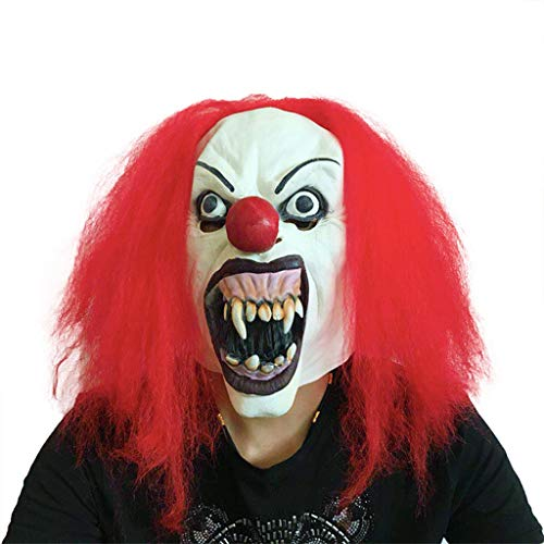 Kostüm Redhead - WYXMJ Clown Mask Halloween Masquerade Performance zeigt Parodie Redhead Ghosts Scary Requisiten