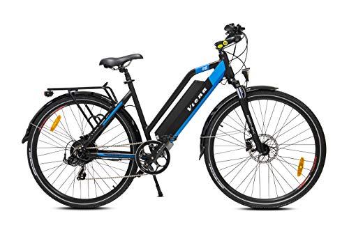 URBANBIKER vélo électrique VIENA (Bleu), Batterie Lithium-ION 768Wh (48V et 16Ah), Moteur 350W (Puissance nominale limitée à 250W), 26 Pouces, Taille 45, Frein hydraulique Shimano