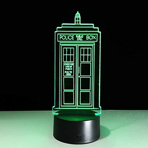 Kinder Nachtlicht britische Polizei Box 3D Nachtlicht TARDIS Schlafzimmer Dekoration Licht Telefonzelle Telefonzelle Led Nachtlicht Arzt, der