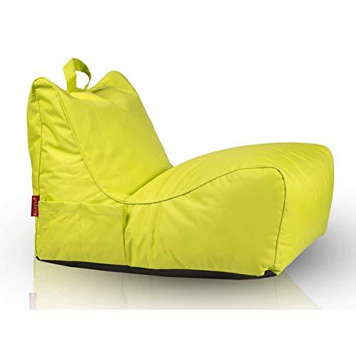 sack Sessel Chaise Longue Polyester Wasserdicht für Kinder und Erwachsene Sitzsäcke Indoor & Outdoor 80 X 60 cm fertig befüllt Farbe Olivgrün NC1 ()