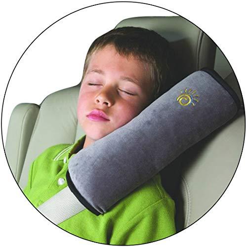 Autodekoration Kind Kinder Kleinkinder Auto Sicherheitsgurt Autositzgurte Kissen Schulterschutz Autositz Booster Sitze Für 4-12 Jahre Kindersitz Autositz Harness Kopfpolsterbezug (Grau)