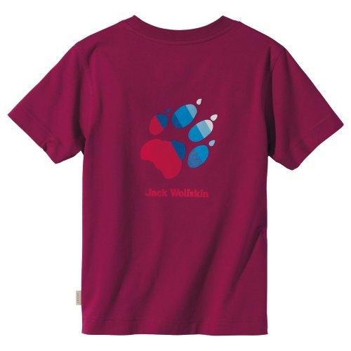 Jack Wolfskin Kinder Shirt Kids Paw T grape red